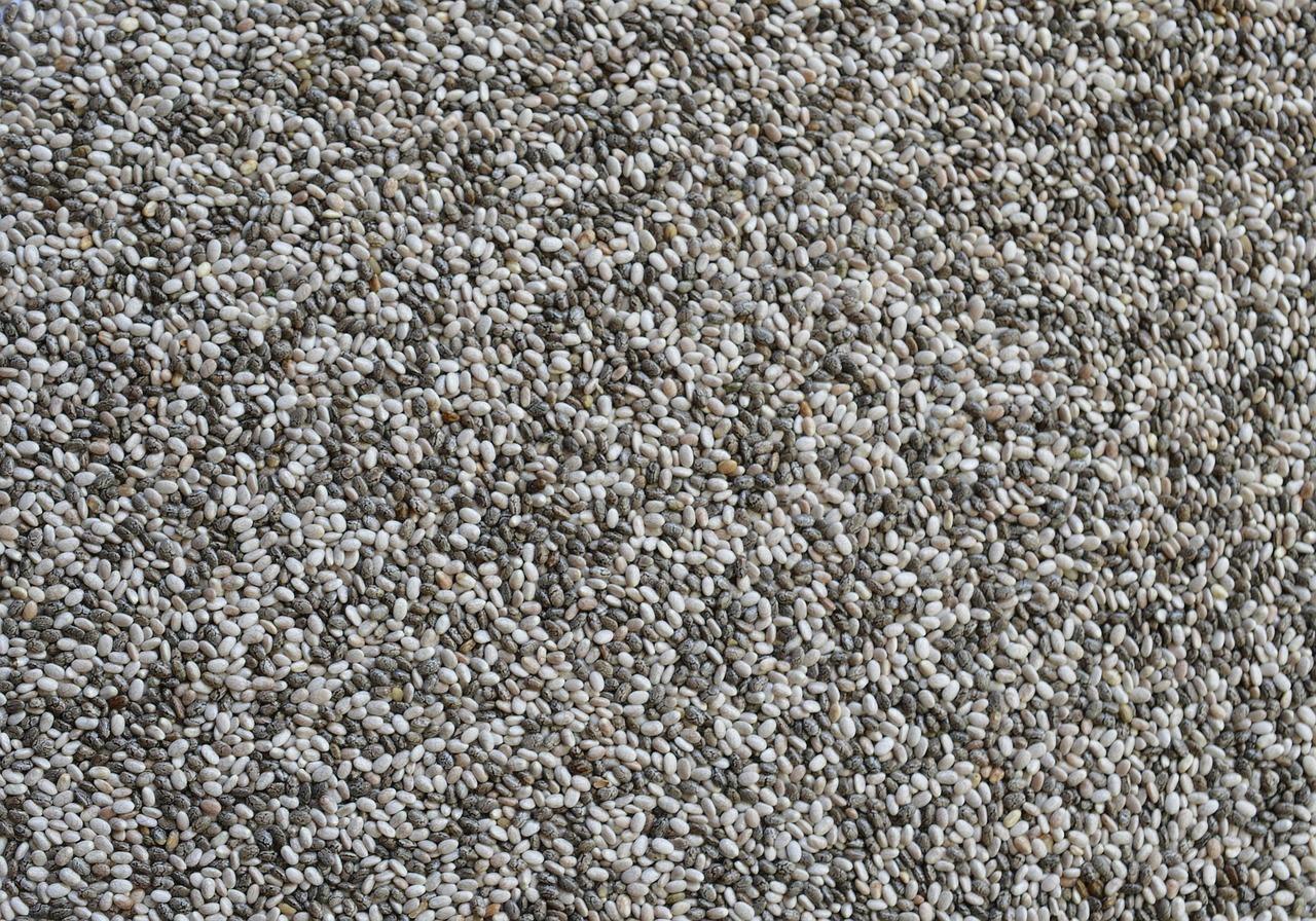 Sjemenke španjolske kadulje preko cijele slike
